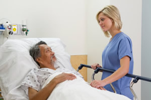 Hospital Stay with Nurse bedside